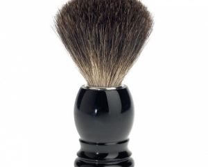 Ebony Black Wood Shaving Brush